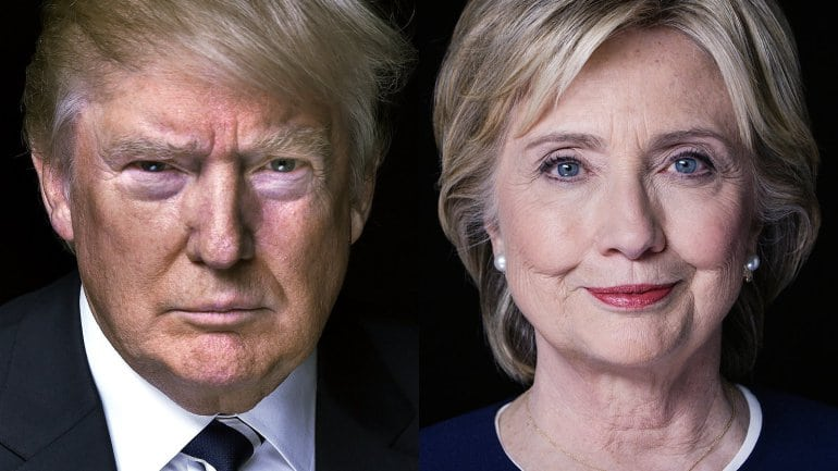 Hillary Clinton and Donald Trump - The last encounter